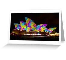 Dress Sails - Sydney Vivid Festival - Sydney Opera House Greeting Card