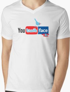 You Twit Face Mens V-Neck T-Shirt