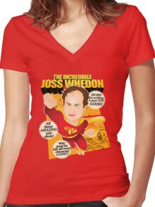 Joss Whedon Women's Fitted V-Neck T-Shirt
