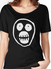 The Mighty Boosh – Big Mask (White) Women's Relaxed Fit T-Shirt