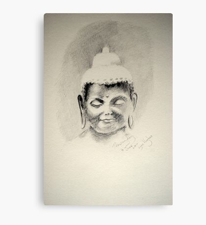 A Buddha for Drawing day  Canvas Print