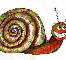 Mr. Snail Illustration by plunder