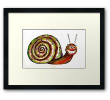 Mr. Snail Illustration Framed Print
