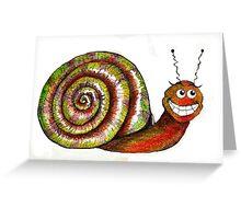 Mr. Snail Illustration Greeting Card