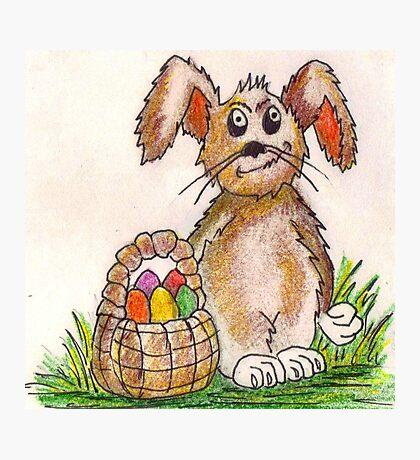 Rabbit Illustration Photographic Print