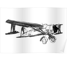 yellow plane with red nose Poster