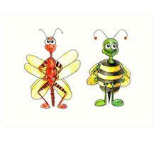 Bug Illustration Art Print