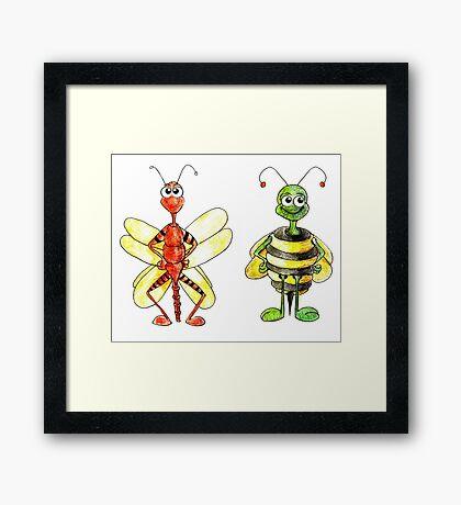 Bug Illustration Framed Print