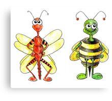 Bug Illustration Canvas Print