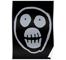 The Mighty Boosh – Big Mask (Grey) Poster