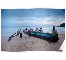 Sri Lankan fishermen Poster