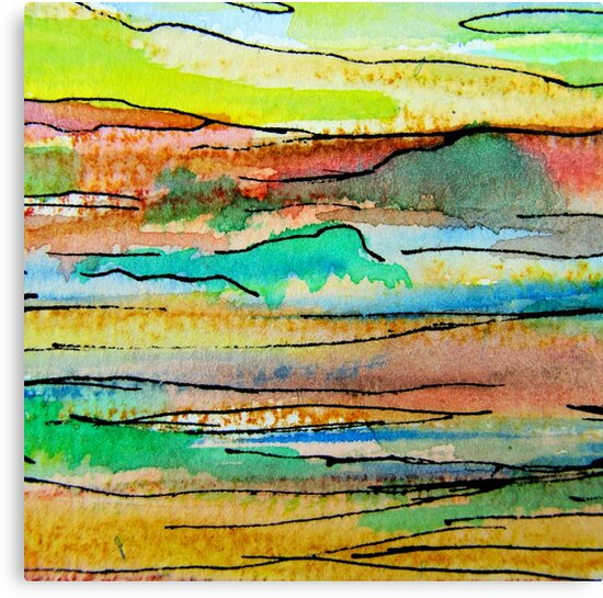 Hinterland Sunset 2 by Kathie Nichols