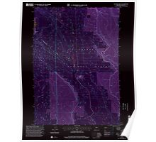 USGS Topo Map Oregon Location Butte 280559 1999 24000 Inverted Poster