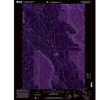 USGS Topo Map Oregon Location Butte 280559 1999 24000 Inverted Photographic Print