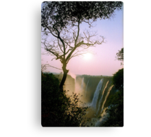 Sunset over Victoria Falls Canvas Print