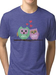 Owl couple Tri-blend T-Shirt