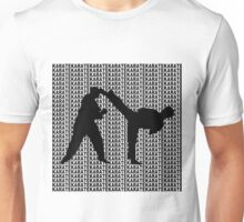 Karate Side Kick With Text Background Black  Unisex T-Shirt