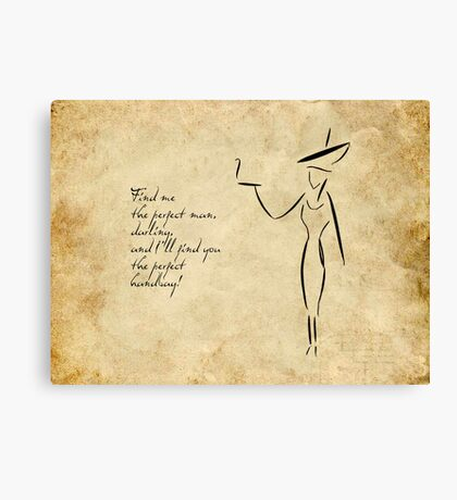 The Lady in the Big Hat #2 Canvas Print