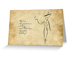 The Lady in the Big Hat #2 Greeting Card