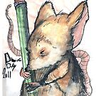 Drawing day 2011; portrait of an artmouse by PieterDC