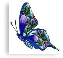 Iris Butterfly Illustration Canvas Print