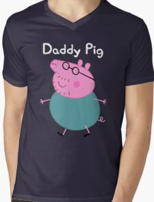 Daddy Pig Mens V-Neck T-Shirt
