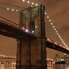 New York Brooklyn bridge by night by EblePhilippe