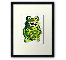 Frog Illustration Framed Print