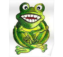Frog Illustration Poster