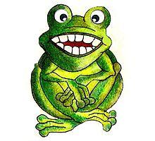 Frog Illustration Photographic Print