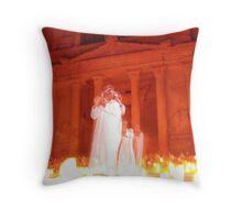 Petra Ghost Throw Pillow