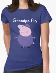 Grandpa Pig Womens Fitted T-Shirt