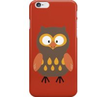 Brown Pumpkin Owl iPhone Case/Skin