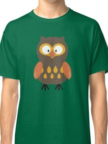 Brown Pumpkin Owl Classic T-Shirt