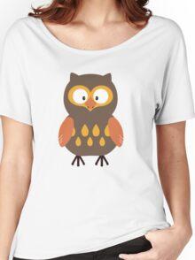 Brown Pumpkin Owl Women's Relaxed Fit T-Shirt