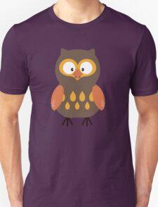 Brown Pumpkin Owl Unisex T-Shirt
