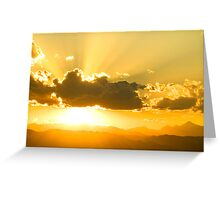 Gods Sunset Greeting Card