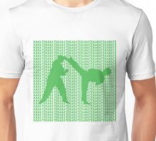 Karate Side Kick With Text Background Green  Unisex T-Shirt