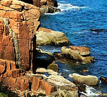 Rocks, Ocean Walk, Acadia National Park, Bar Harbor, Maine by fauselr