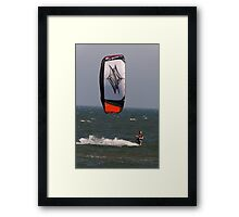 Riding the North Sea Framed Print