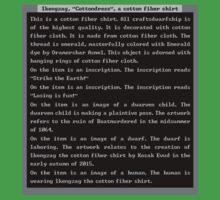 Dwarf Fortress Shirt Artifact GREEN ONLY by DrunkMonk