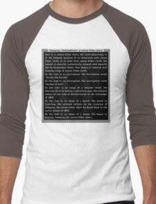 Dwarf Fortress Shirt Artifact GREEN ONLY Men's Baseball ¾ T-Shirt