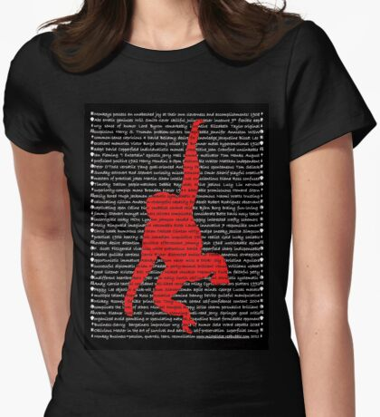 """The Year Of The Monkey"" Clothing Womens Fitted T-Shirt"