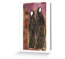 2 muslim women  Greeting Card
