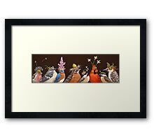Backyard Party Framed Print