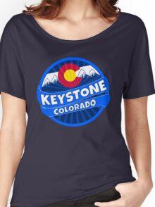 Keystone Colorado flag mountain burst Women's Relaxed Fit T-Shirt
