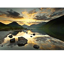 Reflections on Wastwater Photographic Print