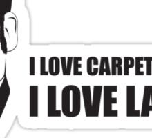 Anchorman T-Shirts - I love lamp. Sticker