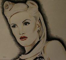 Hollaback Girl in Derwent pencils by Sharyn Kimpton