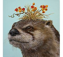 Otter with Bittersweet Hat Photographic Print